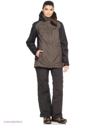 Куртка AMPLY 3 IN 1 JKT W Jack Wolfskin. Цвет: темно-серый, серый