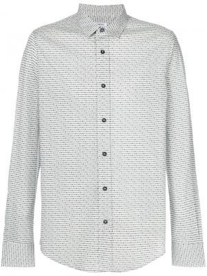 Классическая рубашка с мелким узором Dirk Bikkembergs. Цвет: белый