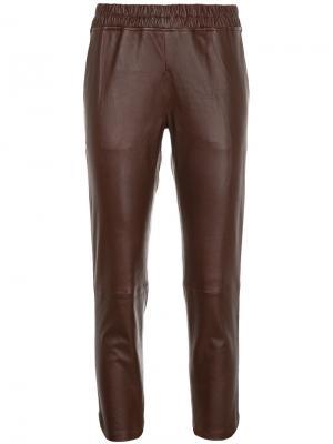 Укороченные брюки Inès & Maréchal. Цвет: коричневый