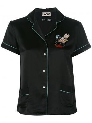 Рубашка с короткими рукавами Hache. Цвет: чёрный