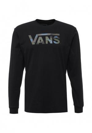 Лонгслив Vans. Цвет: черный