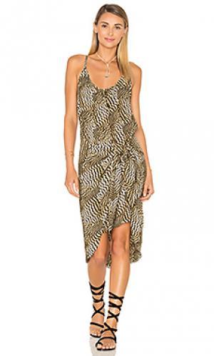 Мини платье с узлом Vix Swimwear. Цвет: черный