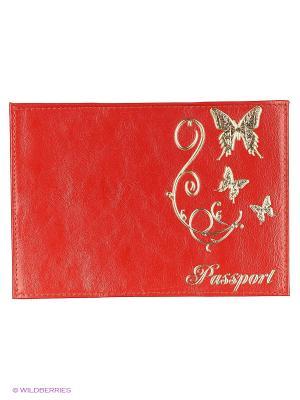Обложка для паспорта JD.ZARZIS. Цвет: красный