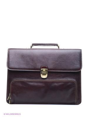 Портфель Tony Perotti. Цвет: коричневый, бордовый