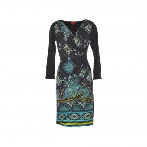 Платье Saloon из трикотажа с принтом RENE DERHY. Цвет: черный
