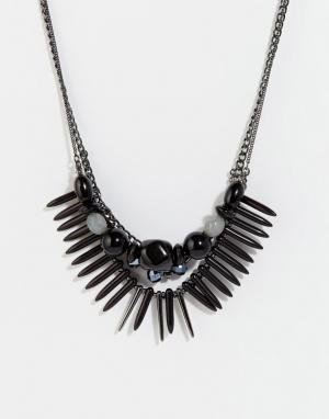 Pilgrim Эффектное ожерелье. Цвет: черный