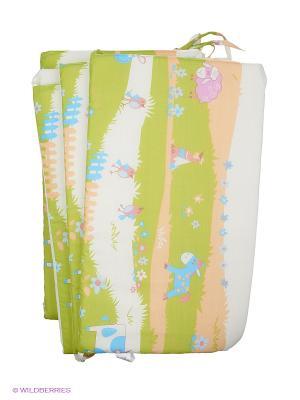 Бортик для кроватки Baby Nice. Цвет: зеленый, белый