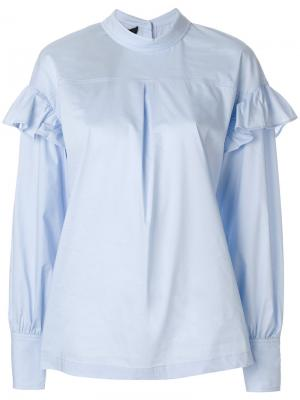 Рубашка Romy с рюшами Designers Remix. Цвет: синий