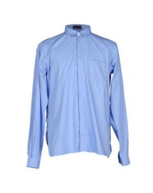Pубашка GIULIANO FUJIWARA. Цвет: небесно-голубой