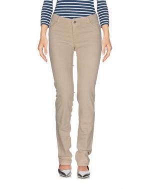 Джинсовые брюки BONPOINT. Цвет: слоновая кость