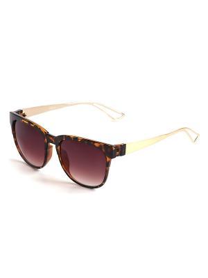 Солнцезащитные очки Selena. Цвет: коричневый, золотистый