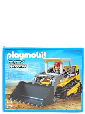 Стройка Мини-экскаватор Playmobil. Цвет: голубой