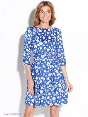 Платье TuttoBene. Цвет: голубой