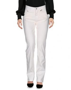 Повседневные брюки DAKS LONDON. Цвет: белый