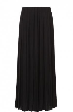 Плиссированная юбка-миди Elizabeth and James. Цвет: черный