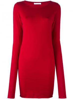 Длинный пуловер кроя скинни Société Anonyme. Цвет: красный