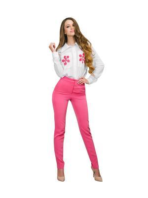 Брюки DiSASH. Цвет: розовый