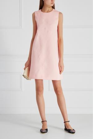 Однотонное платье Cyrille Gassiline. Цвет: розовый