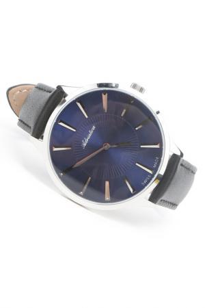 Часы наручные Adriatica. Цвет: синий, стальной