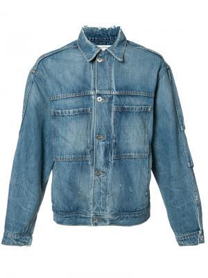 Джинсовая куртка Mr. Completely. Цвет: коричневый