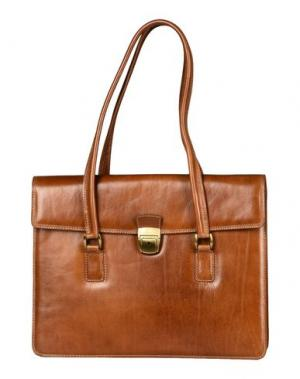Деловые сумки GIUDI. Цвет: желто-коричневый