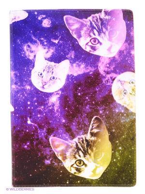 Обложка для паспорта Сны о кошках Mitya Veselkov. Цвет: фиолетовый, зеленый