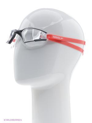 Очки для плавания Speedo. Цвет: черный, красный