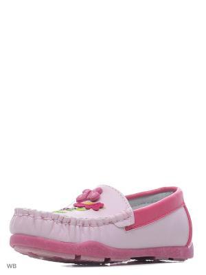 Мокасины Vitacci. Цвет: розовый