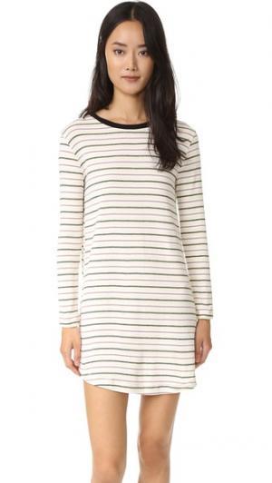 Платье-футболка Crane Knot Sisters. Цвет: натуральный, полоска