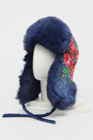 Шапка-ушанка Romax. Цвет: синий
