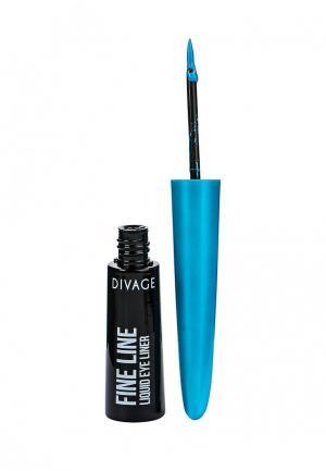 Подводка для глаз Divage. Цвет: голубой