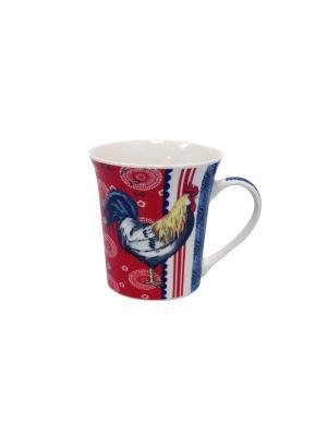 Кружка Великолепные петухи-4 350 мл п/уп (асс) Elff Ceramics. Цвет: синий, голубой, красный, белый