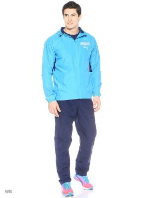 Костюм спортивный  Active Hooded Graphic Suit Puma. Цвет: лазурный
