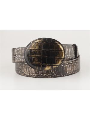 Ремень женский Sevaro. Цвет: черный, бронзовый, золотистый