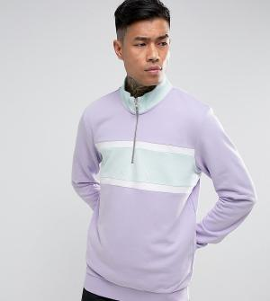 Puma Фиолетовый свитшот с короткой молнией эксклюзивно для ASOS. Цвет: фиолетовый