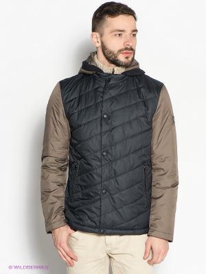 Куртка Clasna. Цвет: черный, коричневый