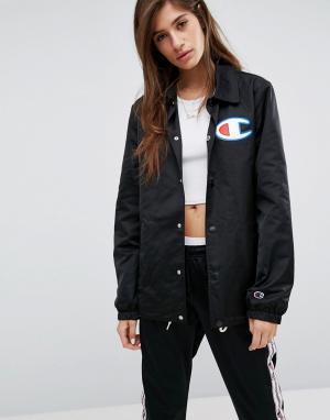 Champion Спортивная куртка оверсайз. Цвет: черный