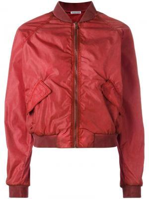 Классическая куртка-бомбер Tomas Maier. Цвет: красный