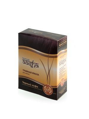 Краска для волос травяная Черный кофе, 60 г Aasha Herbals. Цвет: темно-коричневый