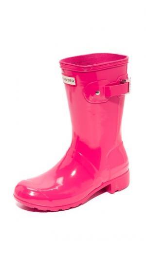 Оригинальные короткие блестящие сапоги Tour Hunter Boots. Цвет: розовый мусс