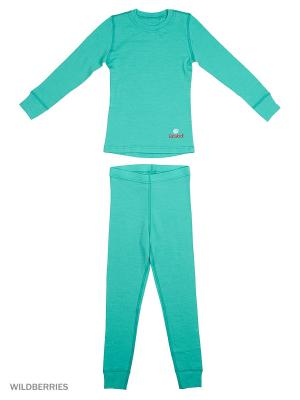 Комплект термобелья Dr.Wool. Цвет: бирюзовый