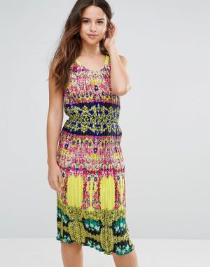 Louche Платье миди Kiya. Цвет: мульти