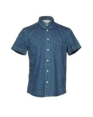 Джинсовая рубашка ACNE STUDIOS. Цвет: синий