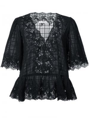 Кружевная блузка Hedda Ulla Johnson. Цвет: чёрный