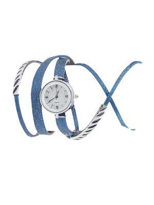 Браслет-часы Olere. Цвет: серебристый, голубой