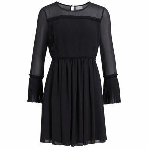 Платье-миди, длина 3/4, длинные рукава VILA. Цвет: черный