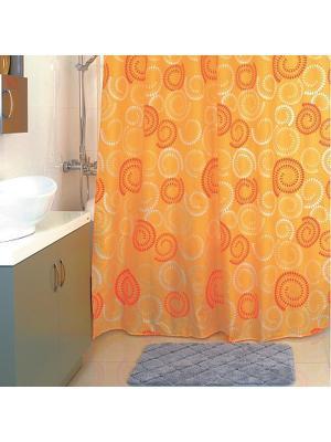 Штора для ванной Milardo. Цвет: желтый, оранжевый