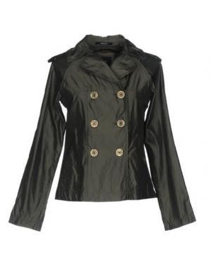 Легкое пальто CALVARESI. Цвет: темно-зеленый