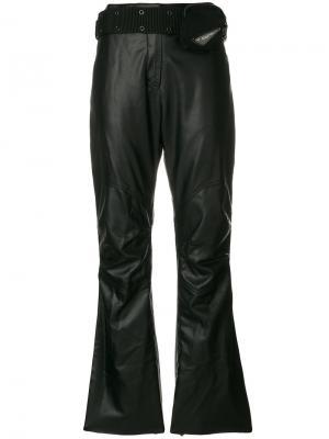 Укороченные брюки с поясом в стиле милитари Hyein Seo. Цвет: чёрный
