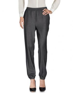 Повседневные брюки ROBERTO COLLINA. Цвет: свинцово-серый